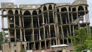 Photo of The state of the Akyem Batabi Church building before it collapsed