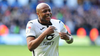 Photo of Andre Ayew on target as Swansea City hold Coventry City to remain unbeaten on the road
