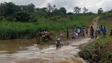 Photo of Residents Stranded Following Collapse Of Aboabo Bridge