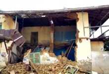 Photo of Akim Oda Chief's Palace Collapses