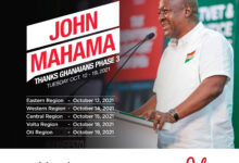 Photo of Mahama To Embark On 'Thank You' Tour Of Eastern Region Today