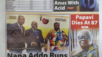 Photo of Today's Newspaper Headlines; Monday, 18th October, 2021.