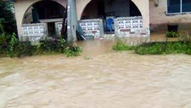 Photo of Photos: Parts of Akyem Oda Flooded After Thursday Downpour