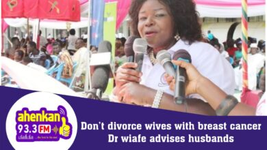 Photo of Don't Divorce Wives With Breast Cancer – Dr Wiafe Advises Husbands